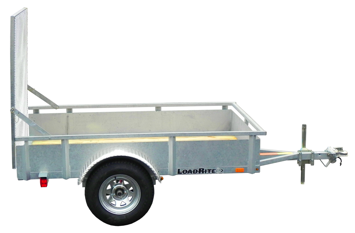 5 X 8 Load Rite Galvanized Utility Trailer Solid Sides