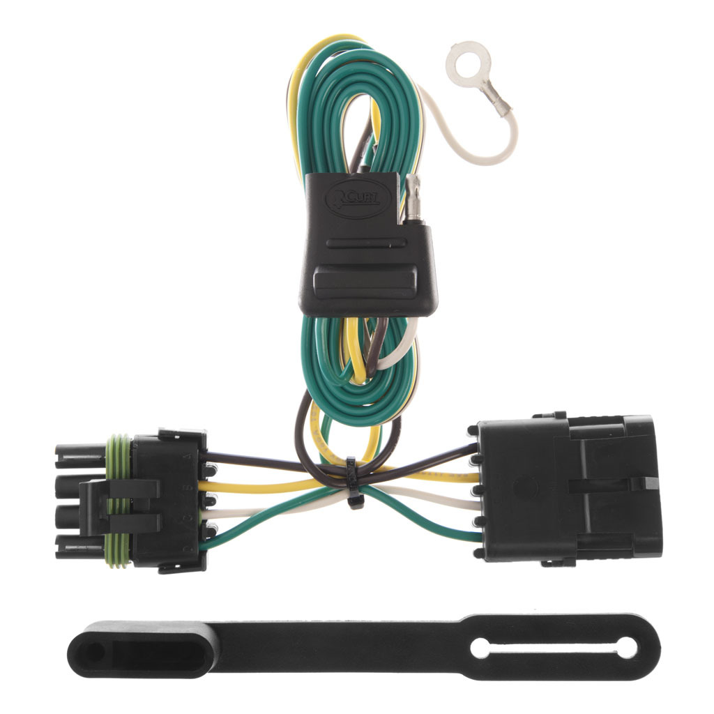 Curt 7 Wiring Harness Library Tconnector Vehicle With 4pole Flat Trailer T Connector 2644 2115