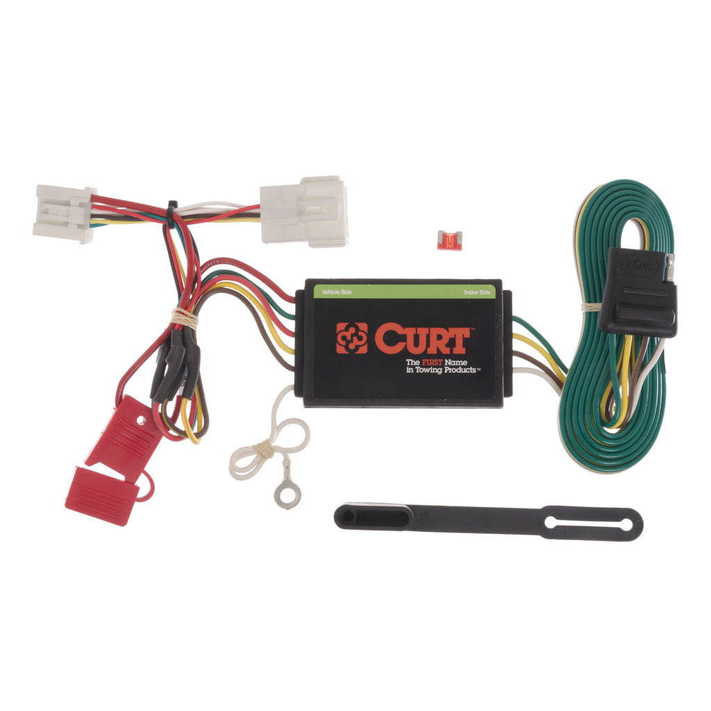 CURT Custom Wiring Harness (4-Way Flat Output) #56158 on