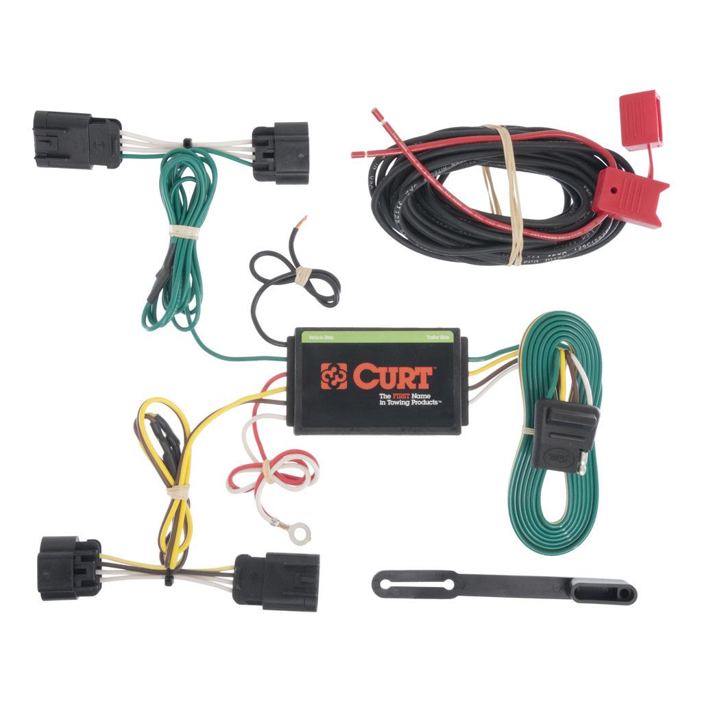 custom wiring harness kits curt custom wiring harness  4 way flat output  56179 ron s toy shop  curt custom wiring harness  4 way flat
