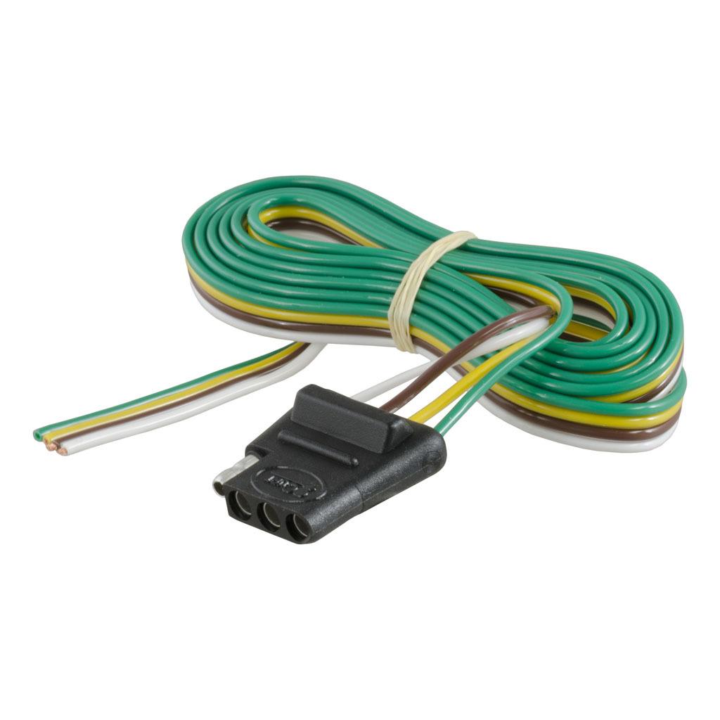 curt 4 way flat connector socket kit 58044 ron s toy shop rh ronstoyshop com Mobile Auto Wire Connectors Wire Connectors