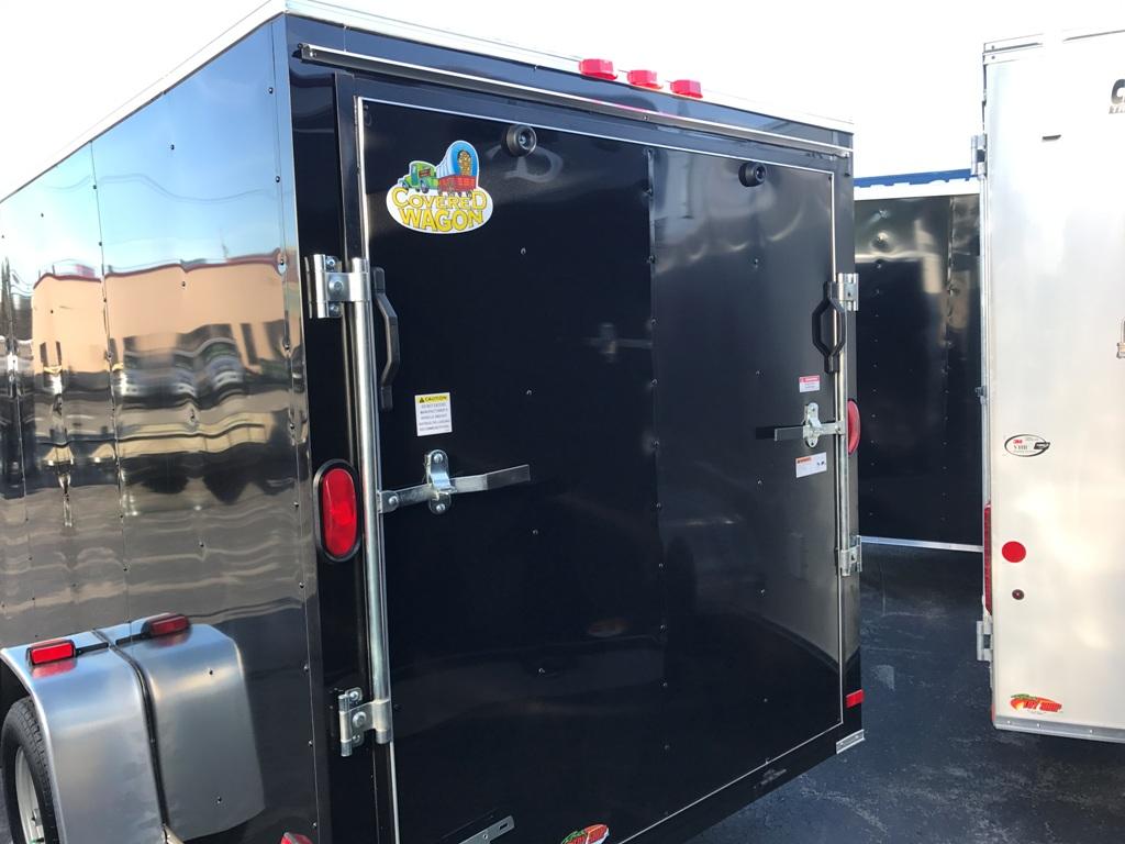 Ez Way Auto Sales >> Enclosed Cargo Trailer 6'x12'+2'V BLACK RAMP Covered Wagon ...