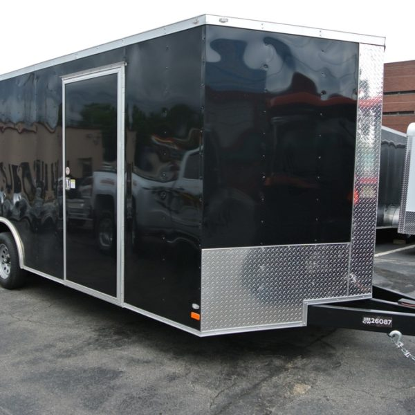 Enclosed Car Hauler Trailer 8 5 X24 2 V Black Covered Wagon Xt