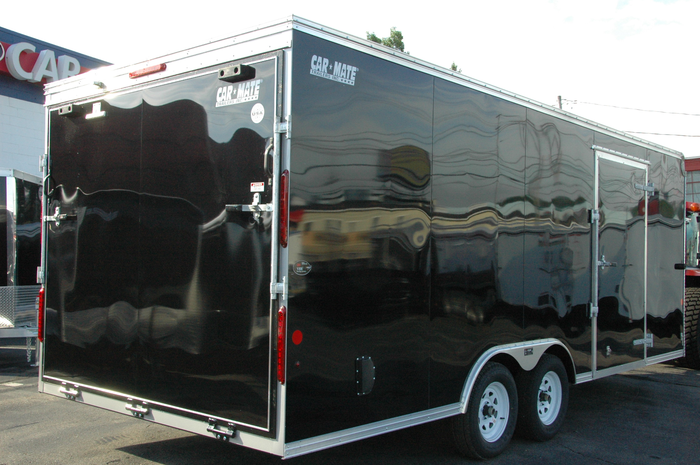 Enclosed Car Hauler Trailer 85x20 Black Mate Custom Rons As Well Eagle Boat Trailers For Sale On Wiring 999000 819500