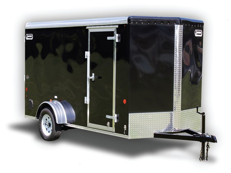 Enclosed Cargo Trailer 5 X10 Black Ramp Car Mate