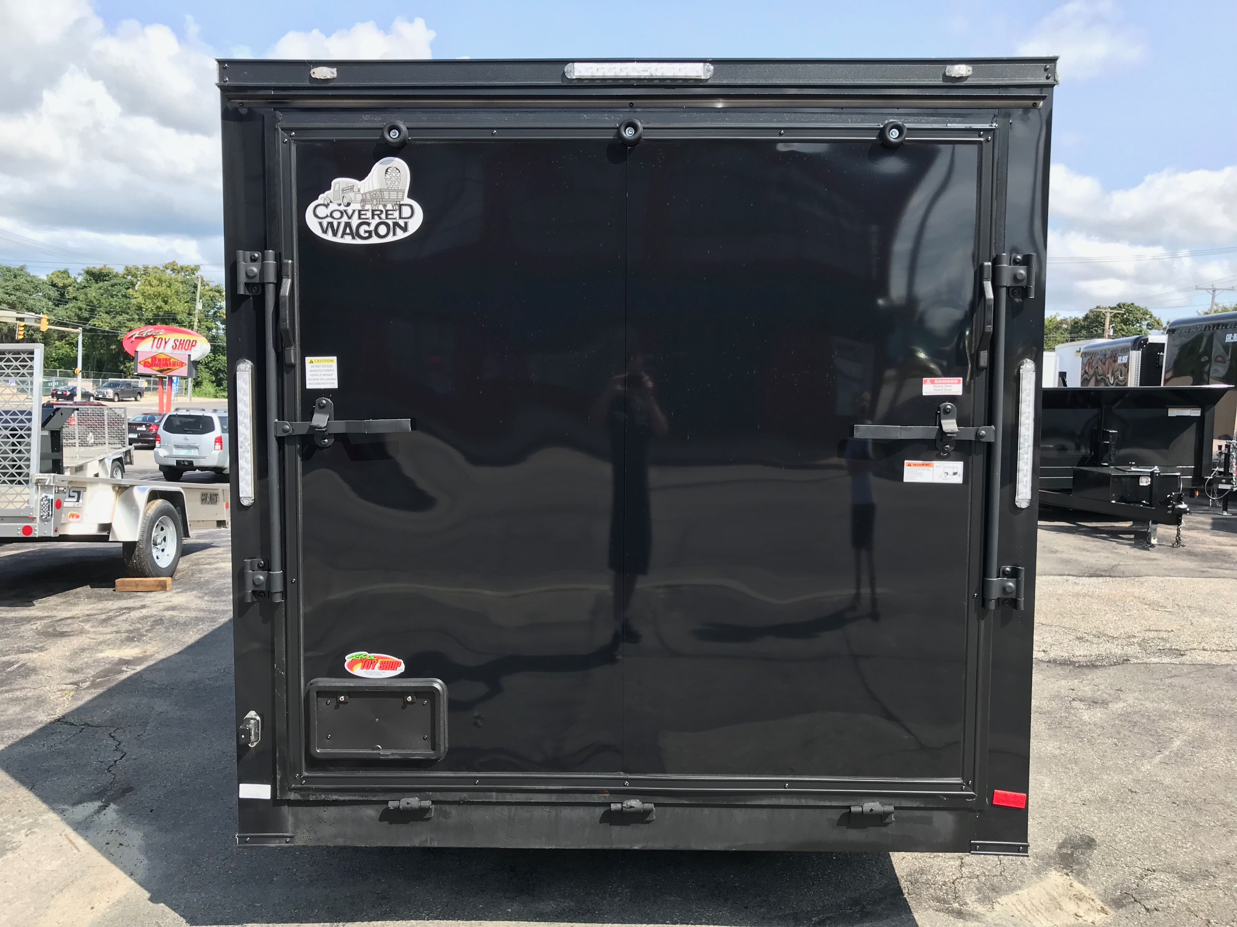 Enclosed Cargo Trailer 7 X16 2 V Black Out Covered Wagon Ron S