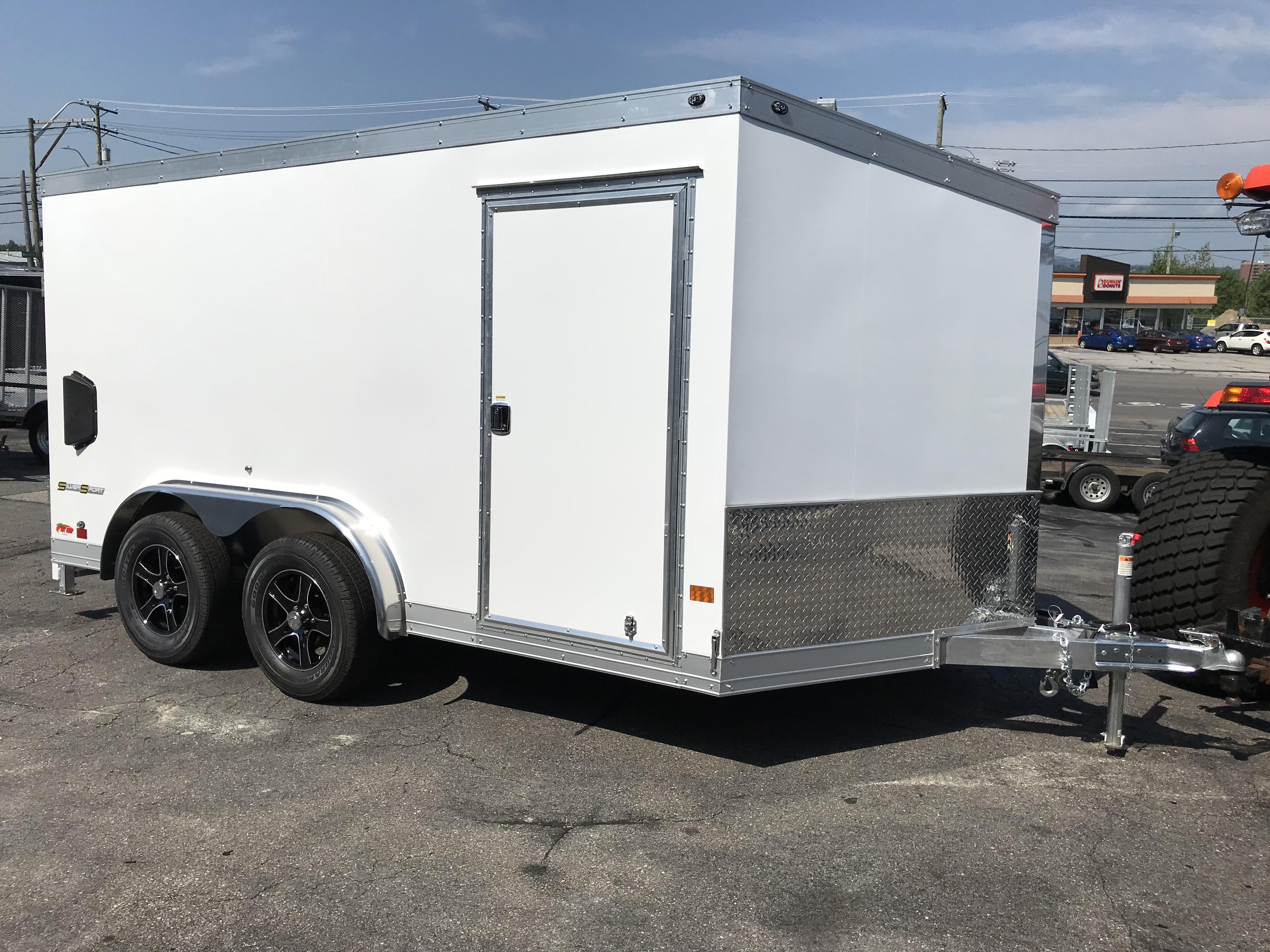 Enclosed Cargo 7.5\'x12\'+2\'V BLACK RAMP Wells Cargo Aluminum ...