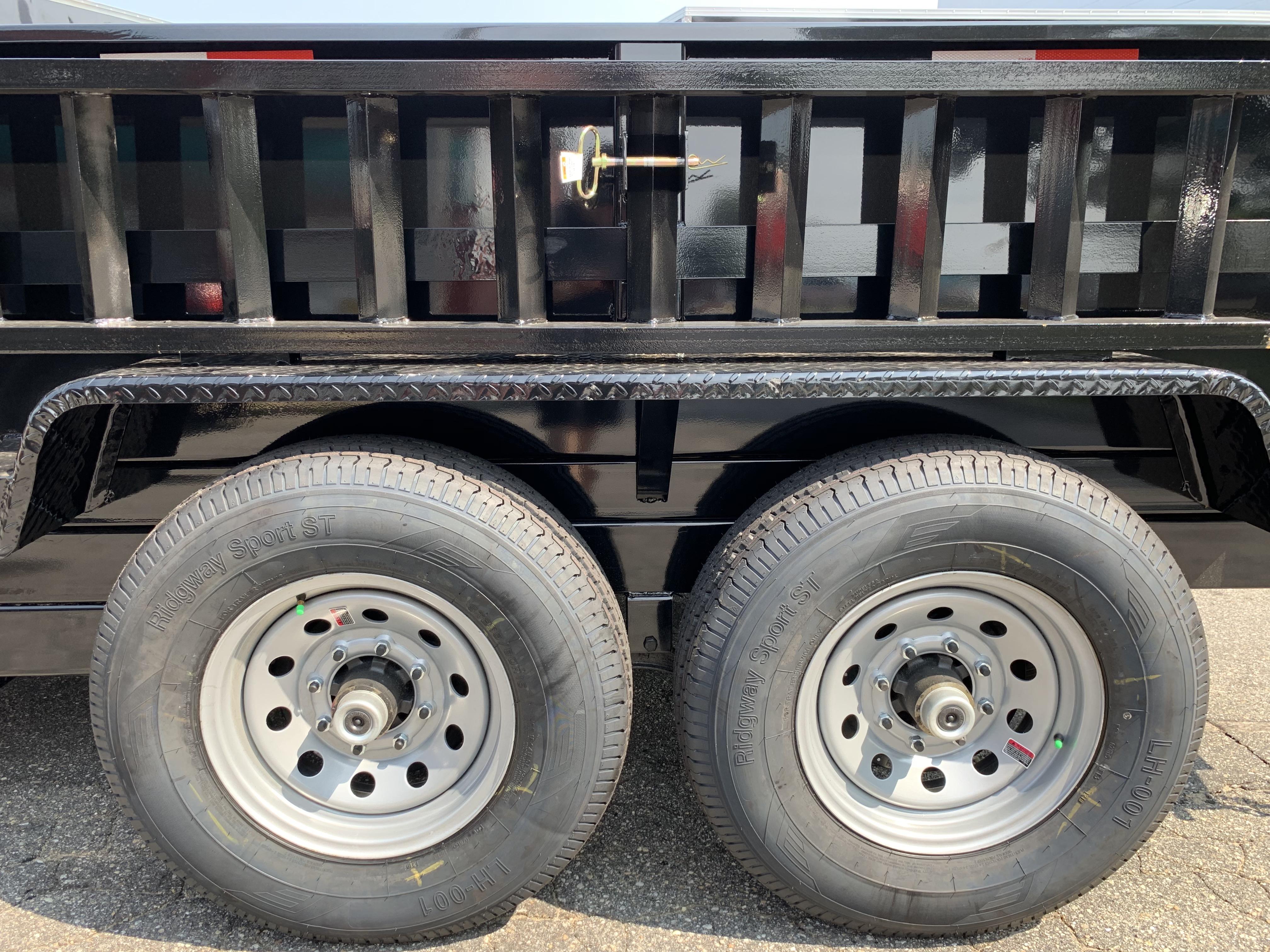 Dump Trailer 83″x12′ BLACK Griffin – Twin Cylinders ...